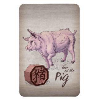 Jahr der chinesischen Tierkreis-Kunst des Magnet