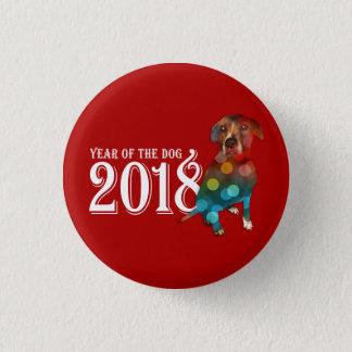 Jahr der doppelten Belichtung des Hund2018 Runder Button 2,5 Cm