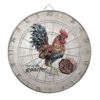 Jahr der Hahn-chinesischen Tierkreis-Kunst Dartscheibe