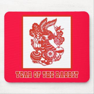Jahr der Kaninchen-chinesisches Mousepad