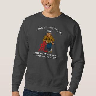 Jahr der Männer des Tiger-2010 dunkel Sweatshirt