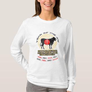 Jahr der Ochsen-Qualitäts-Damen-langen Hülse T-Shirt