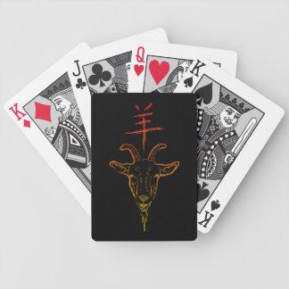 Jahr der Ziege Bicycle Spielkarten