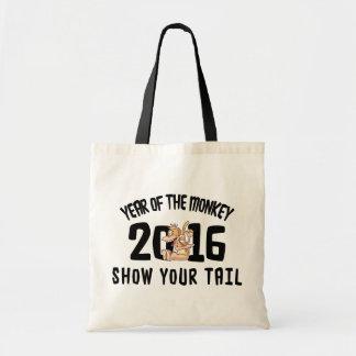 Jahr des Affen 2016 - zeigen Sie Ihren Schwanz Budget Stoffbeutel