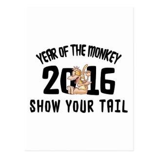Jahr des Affen 2016 - zeigen Sie Ihren Schwanz Postkarte