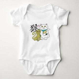 Jahr des Affen glückliches Colors.png Baby Strampler