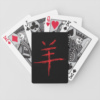 Jahr des chinesischen Schriftzeichens der Schafe Bicycle Spielkarten