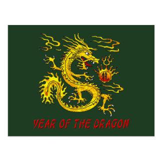 Jahr des Drachen Postkarte