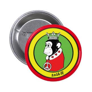 Jahr des friedlichen und liebevollen Affe-Königs Runder Button 5,7 Cm