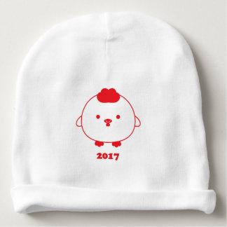 Jahr des Hahn-Babybeanie-Hutes 2017 Babymütze