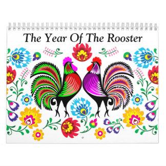 Jahr des Hahn-Kalenders Kalender
