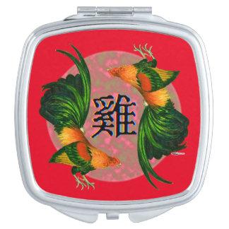 Jahr des Hahn-Kreises Taschenspiegel