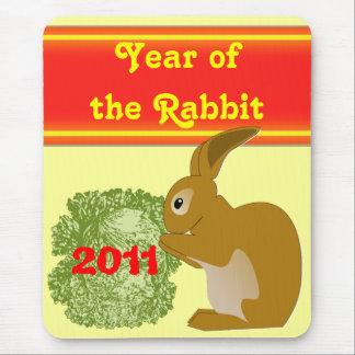 Jahr des Kaninchen mousepad
