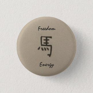 Jahr des Pferdefreiheits-/-energieknopfes Runder Button 2,5 Cm
