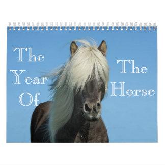 Jahr des Pferdekalenders Abreißkalender