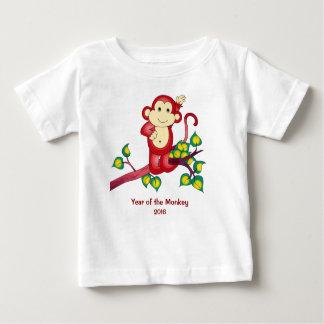 Jahr des roten Affe-Baby-Shirts 2016 Baby T-shirt