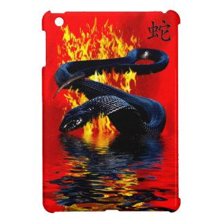 Jahr des Schlangen-Schwarz-Schlangen-Chinesischen iPad Mini Hülle
