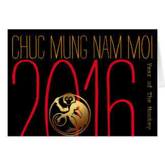 Jahr des vietnamesischen neuen Jahres des Grußkarte