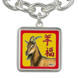 Jahr des Ziege-Guten Glücks! Armbänder