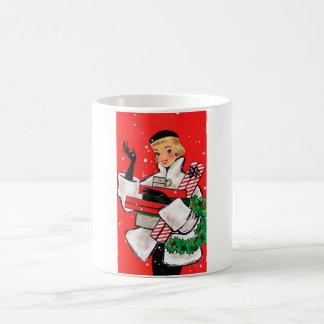 Jahr-Weihnachtskäufer Kaffeetasse
