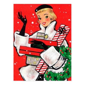 Jahr-Weihnachtskäufer Postkarte