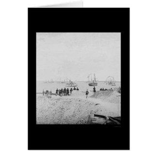 Jahrestag der Auslieferung am Fort Sumter 1865 Karte