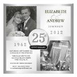 Jahrestag der silbernen Hochzeits-25 - Foto-Einlad
