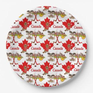 Jahrestag des Ahornblatt-Kanadier-150 Pappteller 22,9 Cm