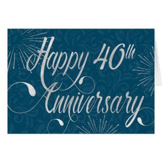 Jahrestag des Angestellt-40. - Wirbler Text - Blau Karte
