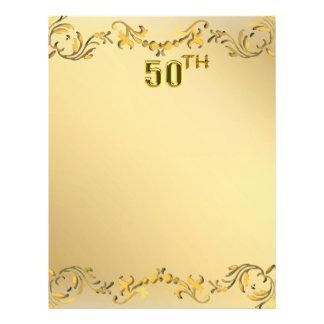 Jahrestag des Gold50. oder Geburtstags-antiker Fly 21,6 X 27,9 Cm Flyer