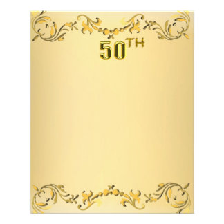 Jahrestag des Gold50. oder Geburtstags-antiker Fly Flyer Druck