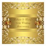 Jahrestag des Goldviktorianischer Blumen-Gold50. Einladungskarten