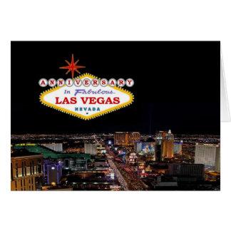 JAHRESTAG in fabelhafter Las Vegas-Karte Grußkarte