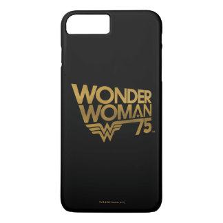 Jahrestags-Goldlogo der Wunder-Frauen-75. iPhone 8 Plus/7 Plus Hülle