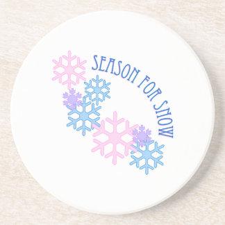 Jahreszeit für Schnee Untersatz