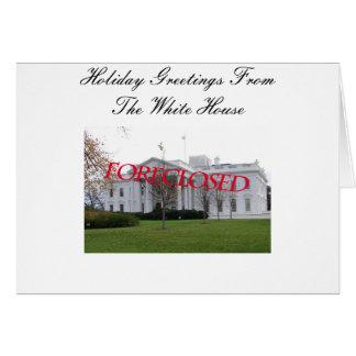 Jahreszeit-Gruß vom Weißen Haus ausgeschlossen Karte
