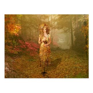 Jahreszeit-Reihen-Herbst-Postkarte Postkarten