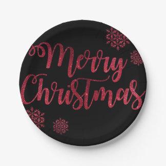 Jahreszeit-Weihnachten Pappteller