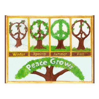 Jahreszeiten des Friedens Postkarte