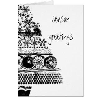 Jahreszeitgruß-Weihnachtsskizze Karte