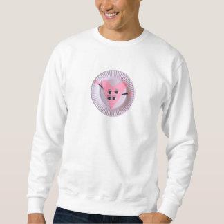 Jährige rosa Kinderkunst des Herz-drei Sweatshirt