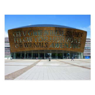 Jahrtausend-Mitte, Cardiff, Wales Postkarte