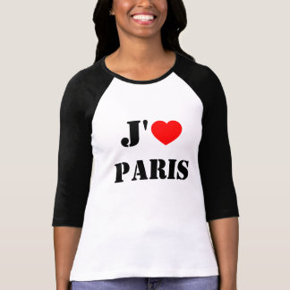 J'aime Paris/I Liebe Paris-Baseball-T - Shirt