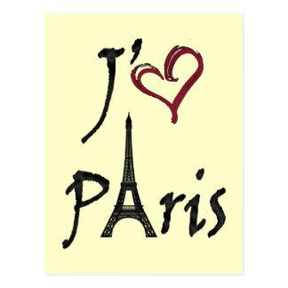 j'aime Paris Postkarte