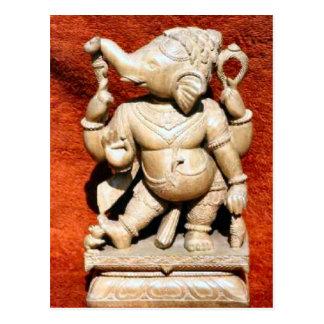 Jain Tempel, Indien-Statue Postkarte