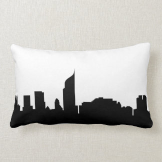 Jakarta-Stadt Skyline-Silhouette Indonesien Lendenkissen