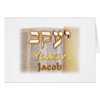Jakob auf Hebräer Karte