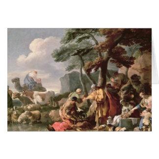 Jakob, der die merkwürdigen Götter unter der Eiche Karte