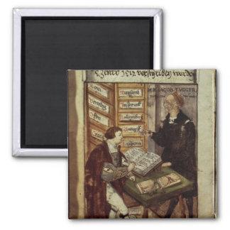 Jakob Fugger in seinem Büro, 1518 Quadratischer Magnet
