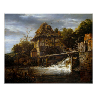 Jakob van Ruisdael zwei von unten angetriebenes Poster